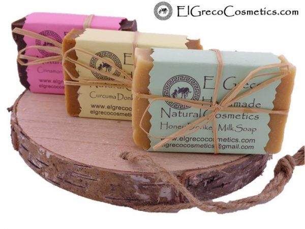 Trio pack Cinnamon Curcuma Honey Donkey milk Soap_1
