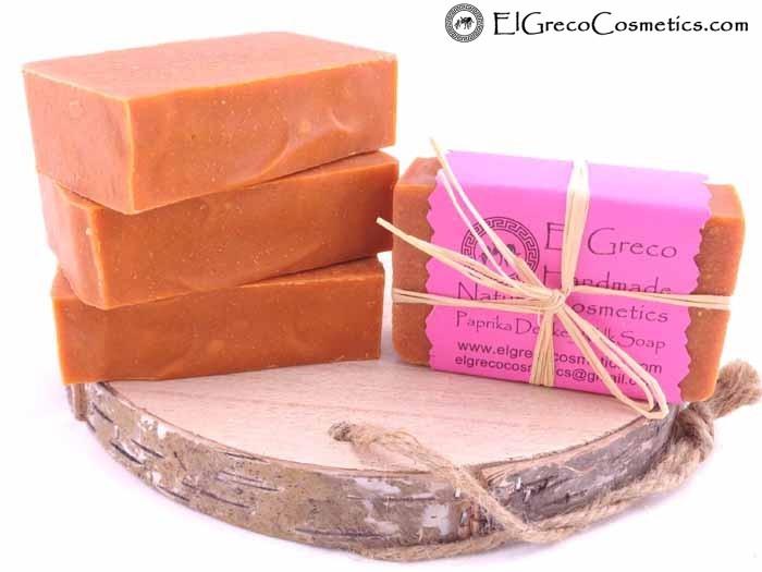 Paprika Donkey milk Soap
