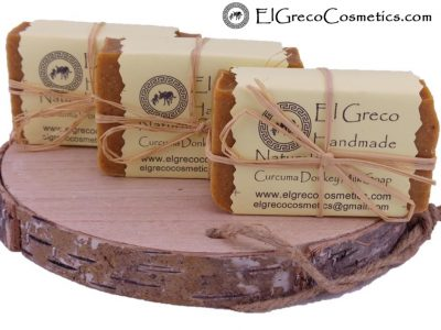 3 pack CURCUMA DONKEY MILK SOAP