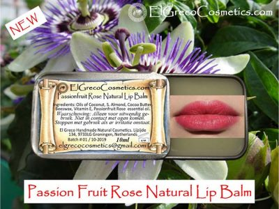 PassionFruit Rose Natural Lip Balm 10ml